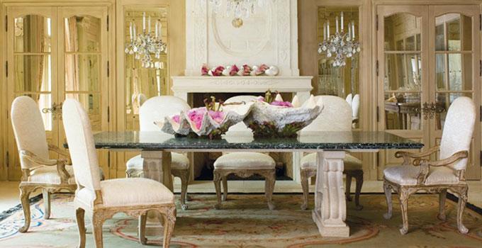 elegant formal dining room by designer laura lee clark
