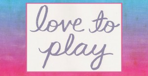 love to play - in watercolor