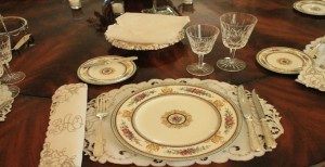place setting in an elegant dining setting