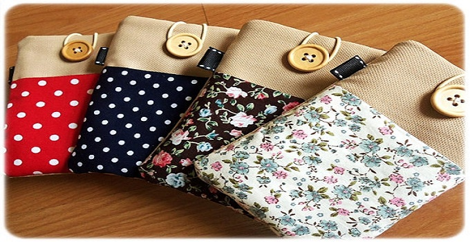 fabric iphone cases with loop and button closure