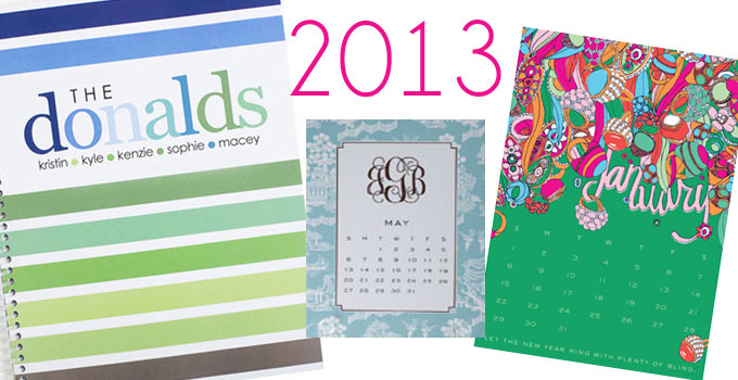 2013 personalized calendars