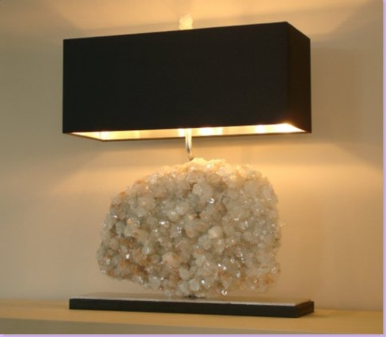Yellow Stone Series Mineral Rock Crystal Lamp