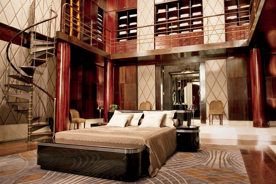 Modern art deco design - Jay Gatsby's bedroom
