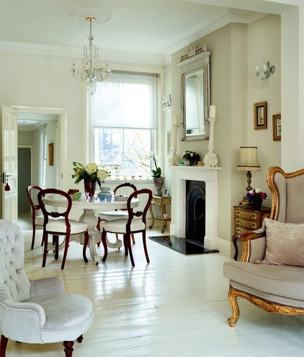 floors - white via Period Living Mag