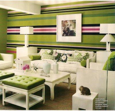 horizontal striped walls