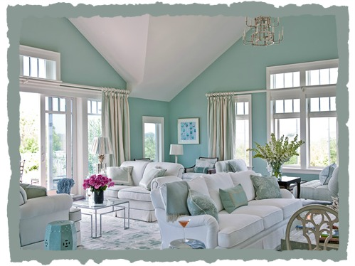 Light Blue Beach Decorating For The Home