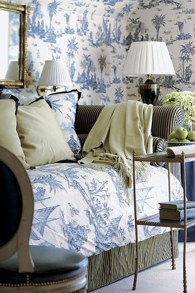 blue room - toile