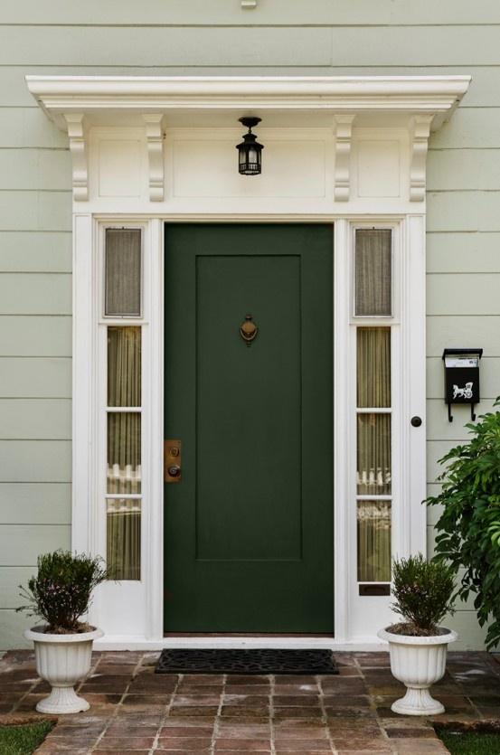 front door - green