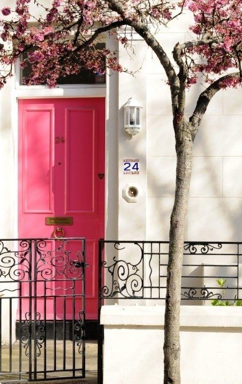 front door - pink