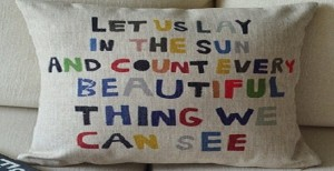 Beautiful things pillow