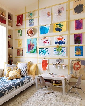 kids art via Interior Canvas