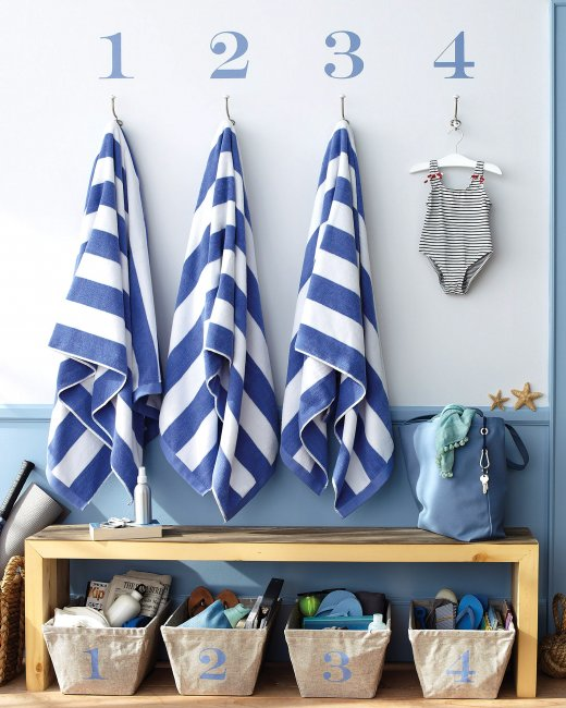 mudroom via Martha Stewart