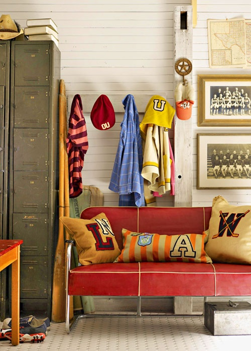 mudroom via country home