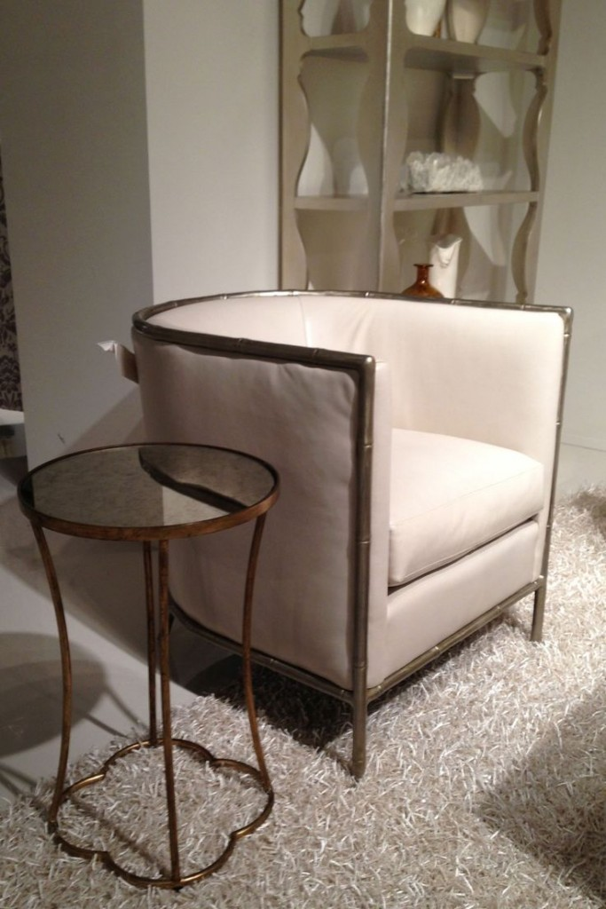 Classic Styling at high point market Leather and bamboo chair by Bernhardt HPMKT SS SN
