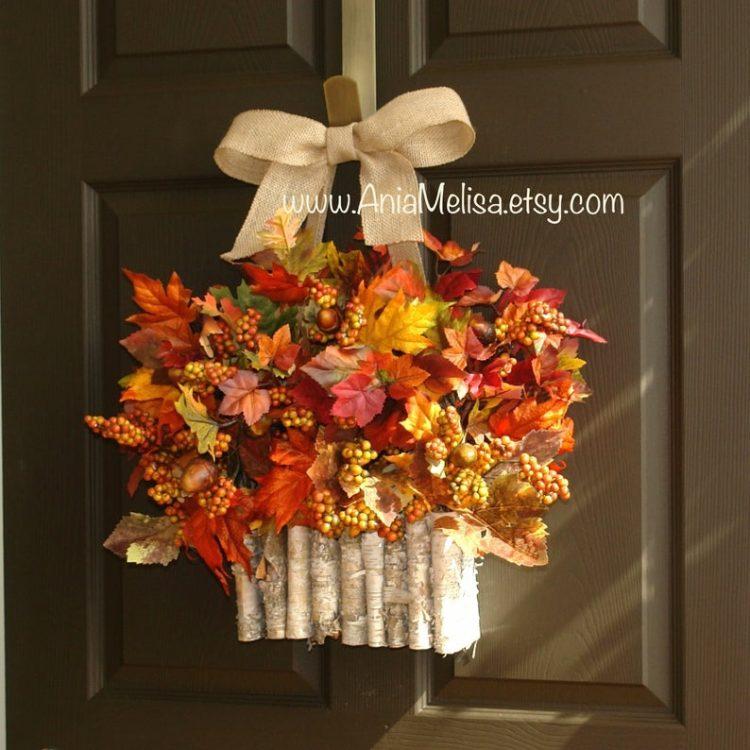 Front Door Autumn Wreath