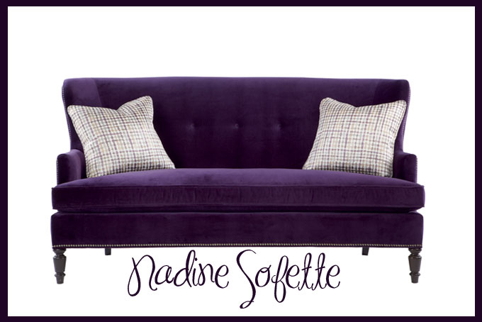 On My Christmas List: The Nadine Sofette by Bernhardt