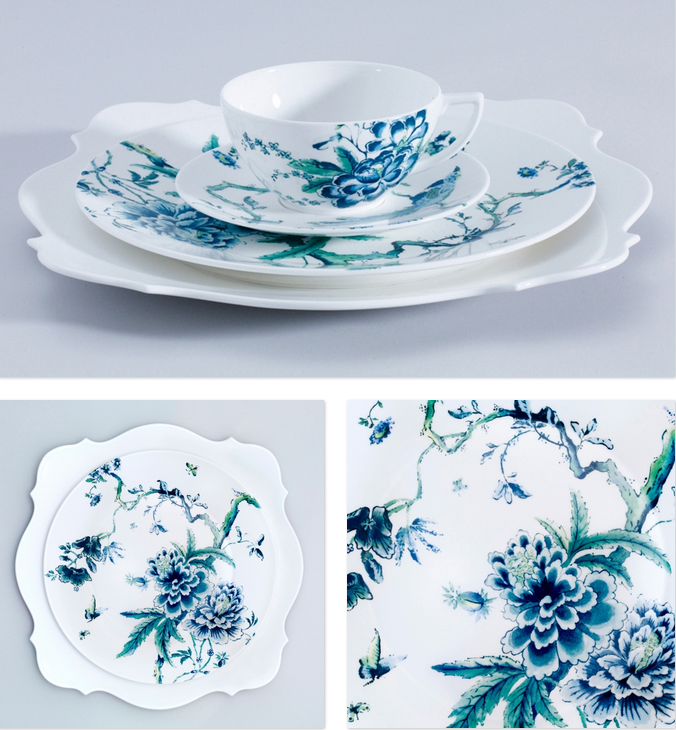 Chinoiserie tea cup and saucer