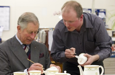 Hand painting fine bone china - Prince Charles