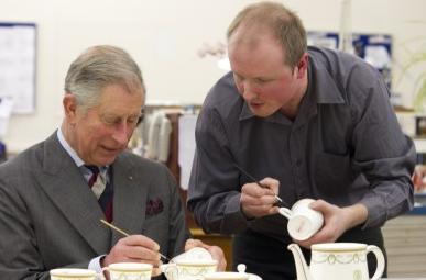 Hand painting fine bone china - Prince Charles