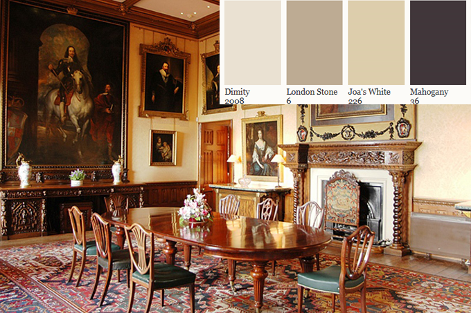 paint your home the colors of downton abbey 39 s highclere castle with farrow and ball kelly. Black Bedroom Furniture Sets. Home Design Ideas