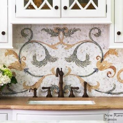 Luxury Kitchen Designs: Tile Inspiration For Backsplashes and Ceilings