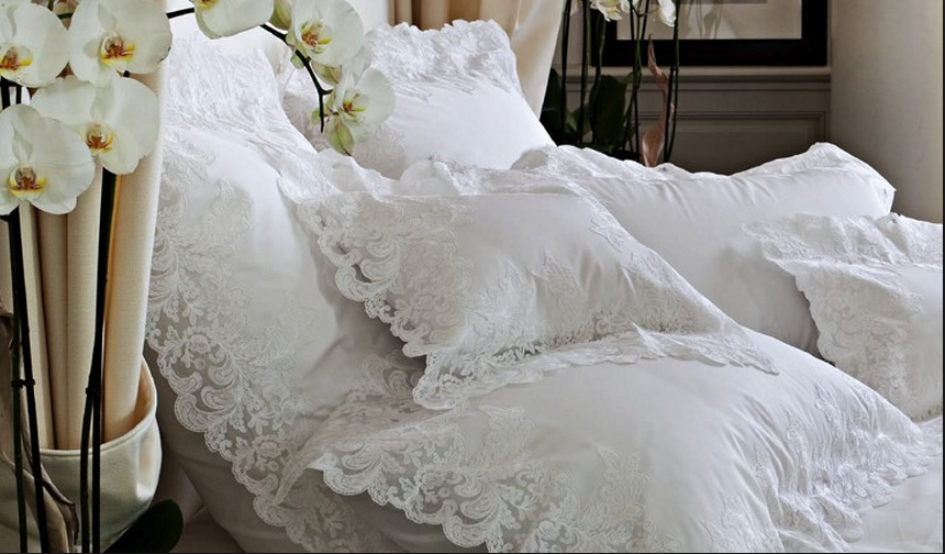 Lace designed bedding