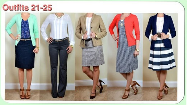 The Spring Business Casual Capsule - Outfits 21-25