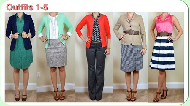 The Spring Business Casual Capsule -  Outfits 1-5