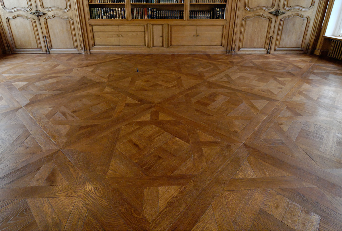 A guide to parquet floors patterns and more hadley court parquet floors daremberg panel pattern dailygadgetfo Images