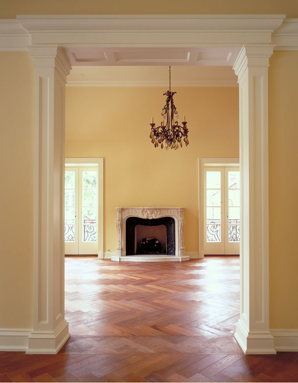 herringbone wood parquet floor pattern example