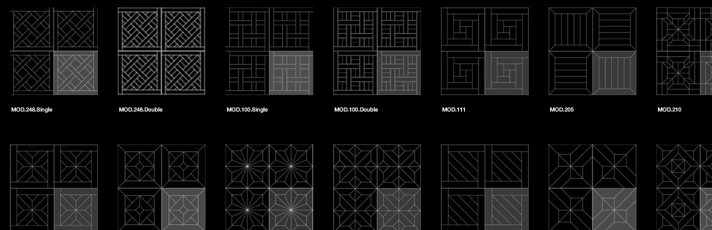 patterns of parquet panels