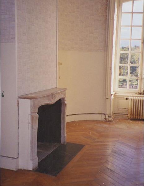parquet wood floor before