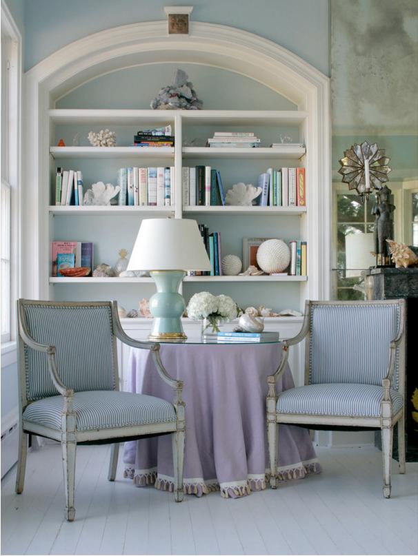 Shelves with decor photo