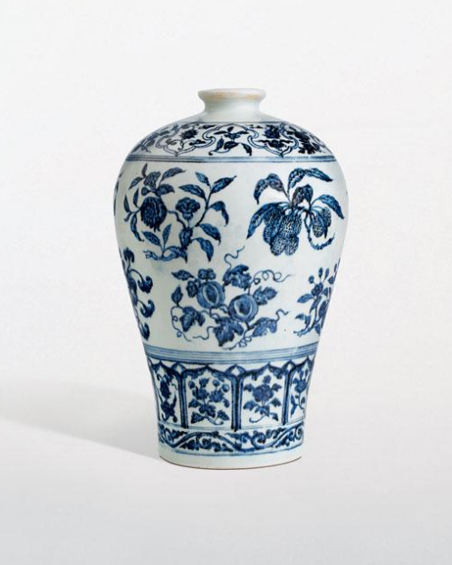 White and Blue porcelain vase photograph
