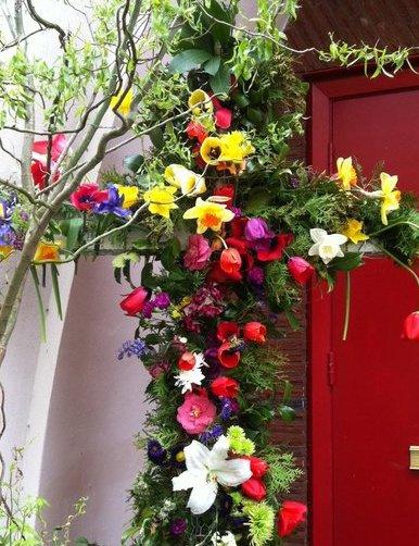flower cross St .David