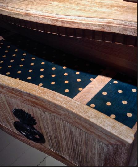 William Yeoward furniture with polka dot inlay