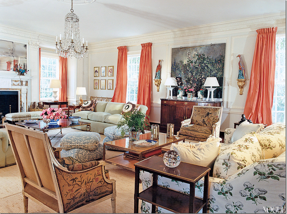 Luxurious living room upholstery