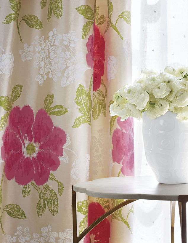 Modern Romantic style for window treatments