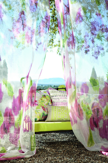 watercolor effect window treatment example