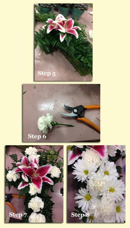 How to make a Flowering Cross Steps 5-8