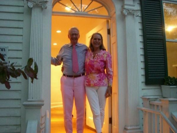 Alexandra & Peter at Connecticut doorway