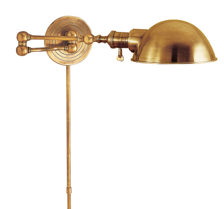 Gold wall mounted lamp