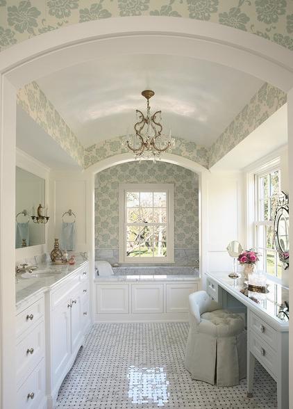 Luxury Bathroom Interior With Modern Decor