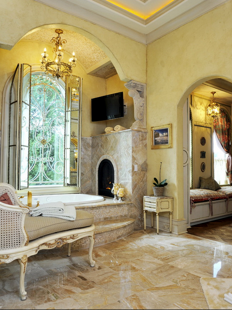 Grand & French luxury master bathroom