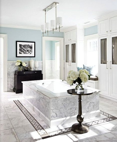 Luxurious Master Bathroom with jacuzzi tub