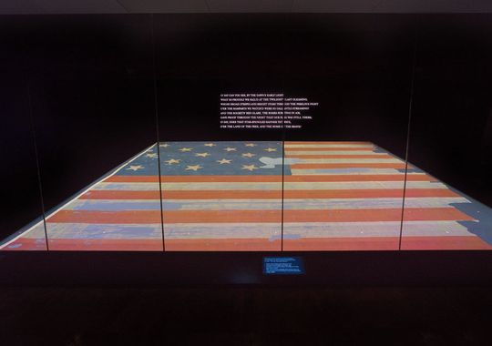 Star spangled banner at the Smithsonian