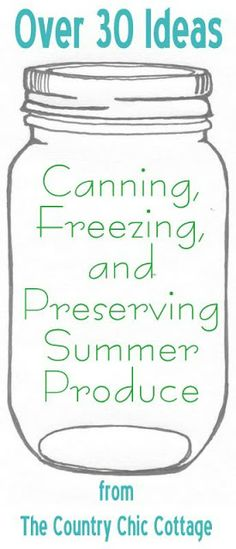canning ideas