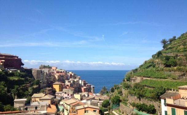 Cinque terre terrace & sea