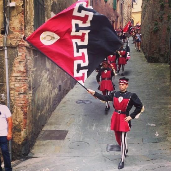 Siena district parade