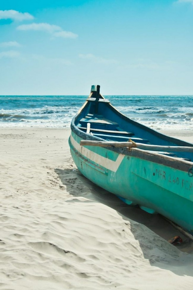 beautifulboatonbeach